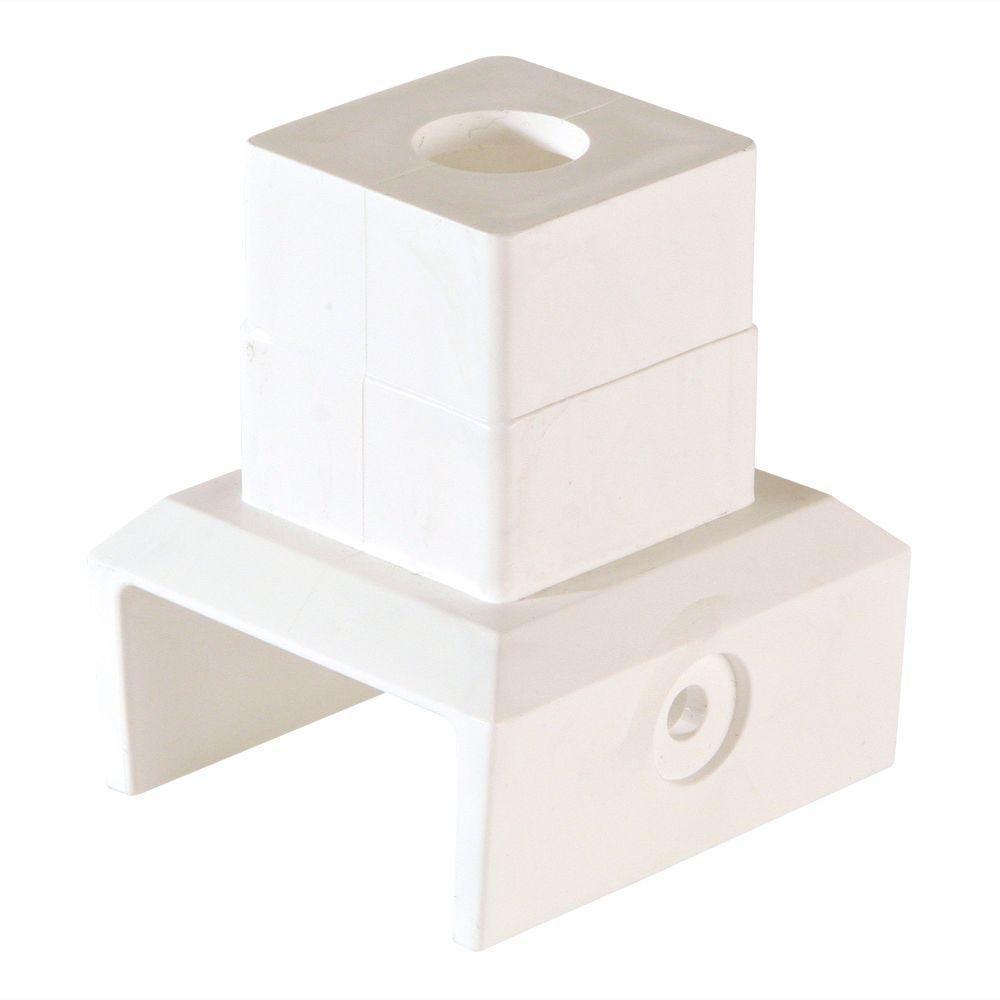 0 ft. x 0 ft. White Modular Vinyl Fence Panel Rail Connector (12-Box)