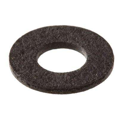 #4 x 0.032 in. Black Fiber Washers (4-Pieces)