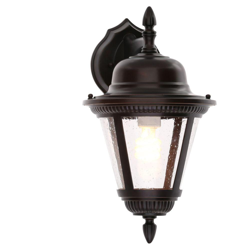 Progress lighting westport collection 1 light antique bronze 16 in outdoor wall lantern
