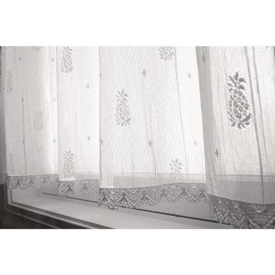 Pineapple 45 in. L Polyester Valance in White