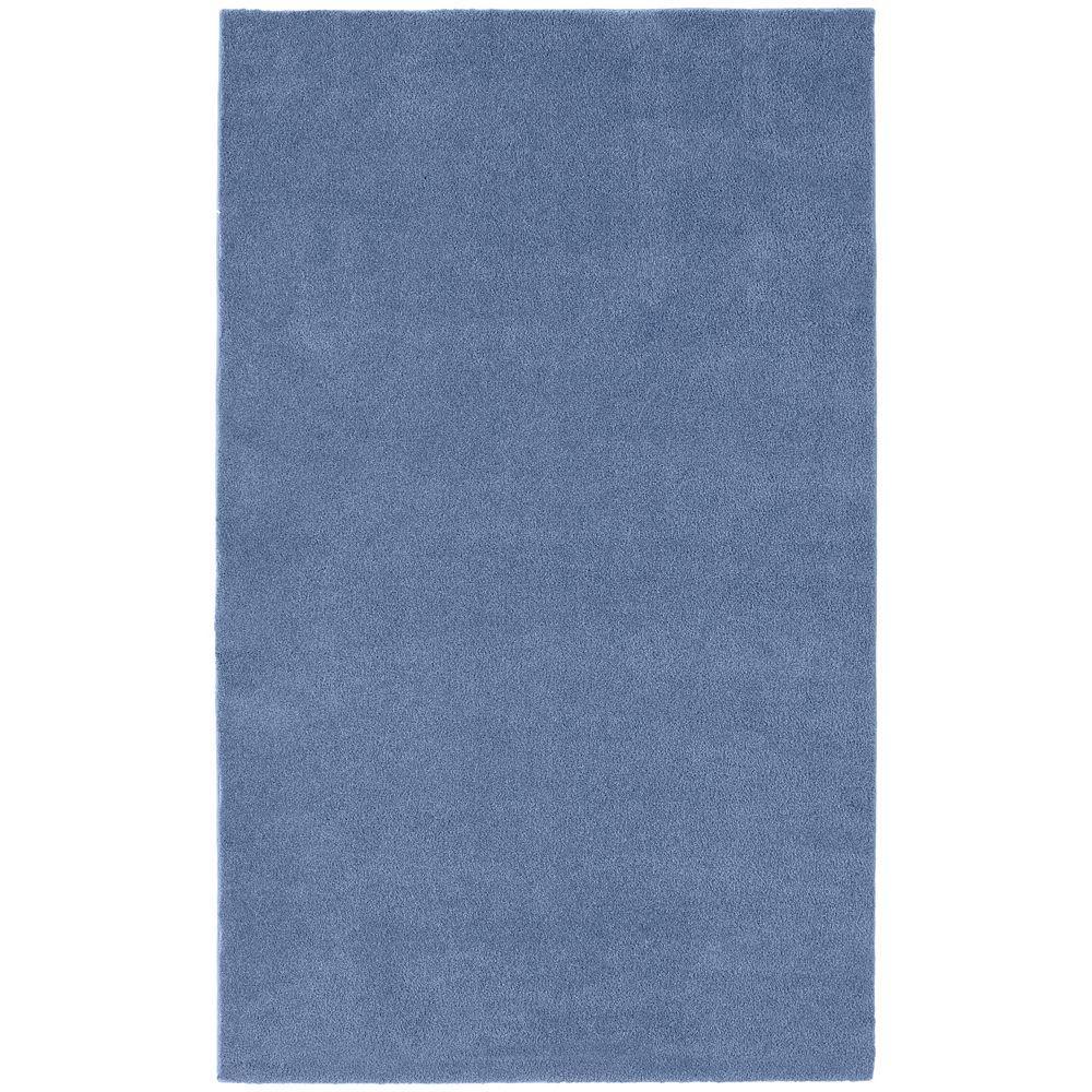 Washable Room Size Bathroom Carpet Basin Blue 5 ft. x 6 ft. Area Rug