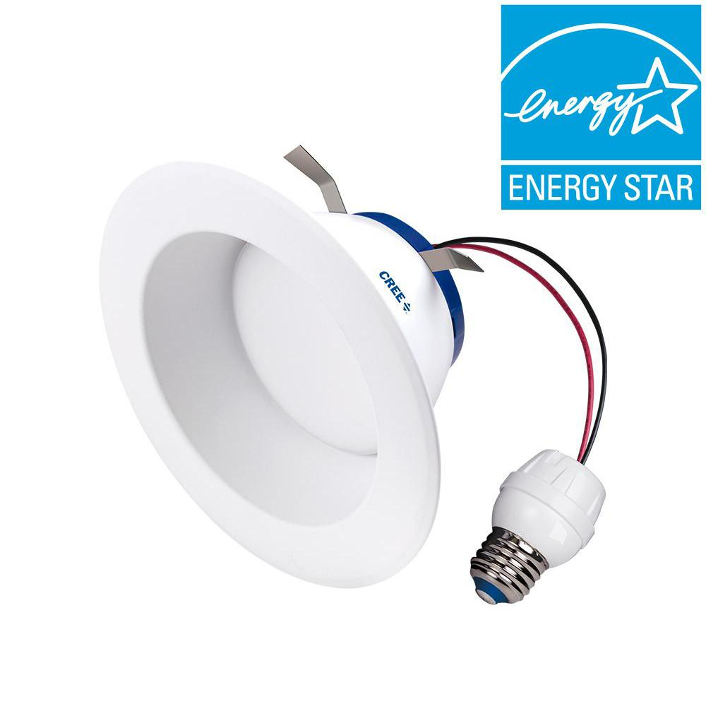 Cree 100W Equivalent Soft White (2700K) 6 in. Dimmable LED Retrofit ...