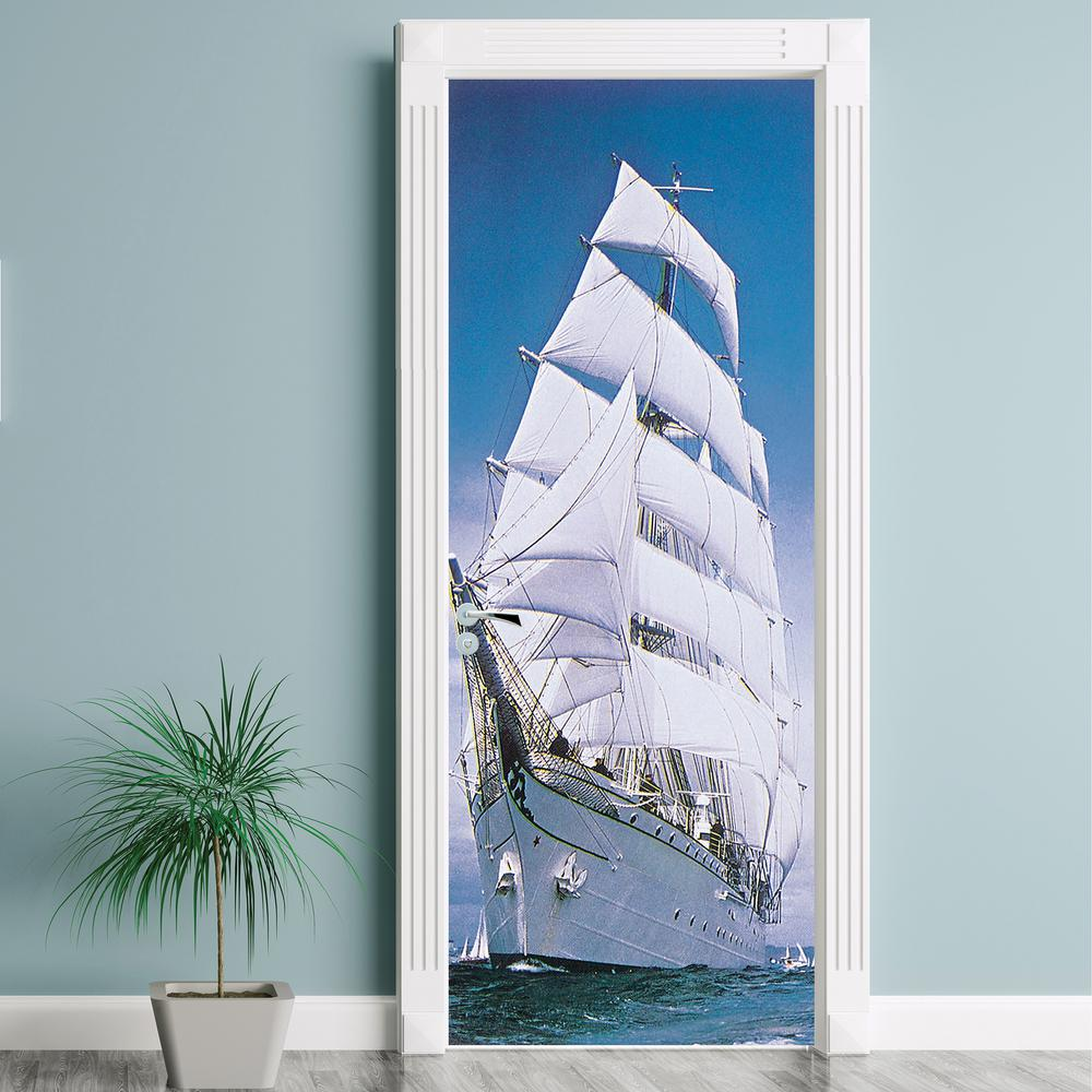 Komar 87 in. x 34 in. Sailing Ship Wall Mural
