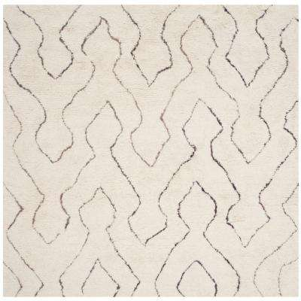 Casablanca Ivory/Multi 6 ft. x 6 ft. Square Area Rug