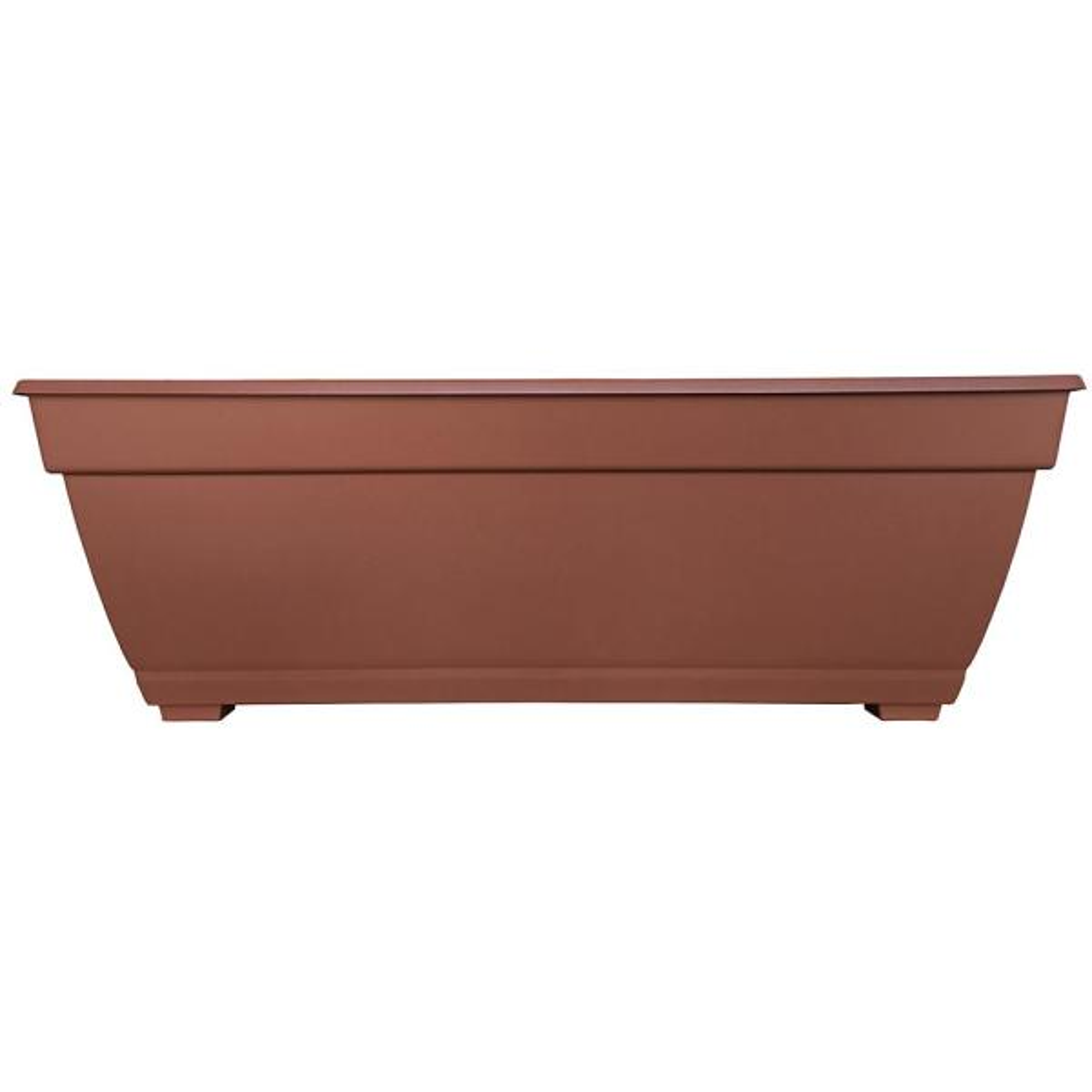 Newbury 26.85 in. x 12 in. Terracotta Resin Deck Box Planter