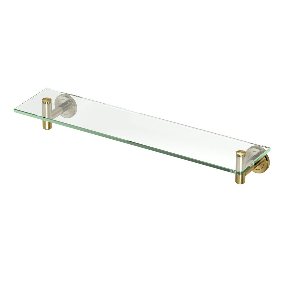 Latitude II 5.5 in. Glass Shelf in Matte Brass