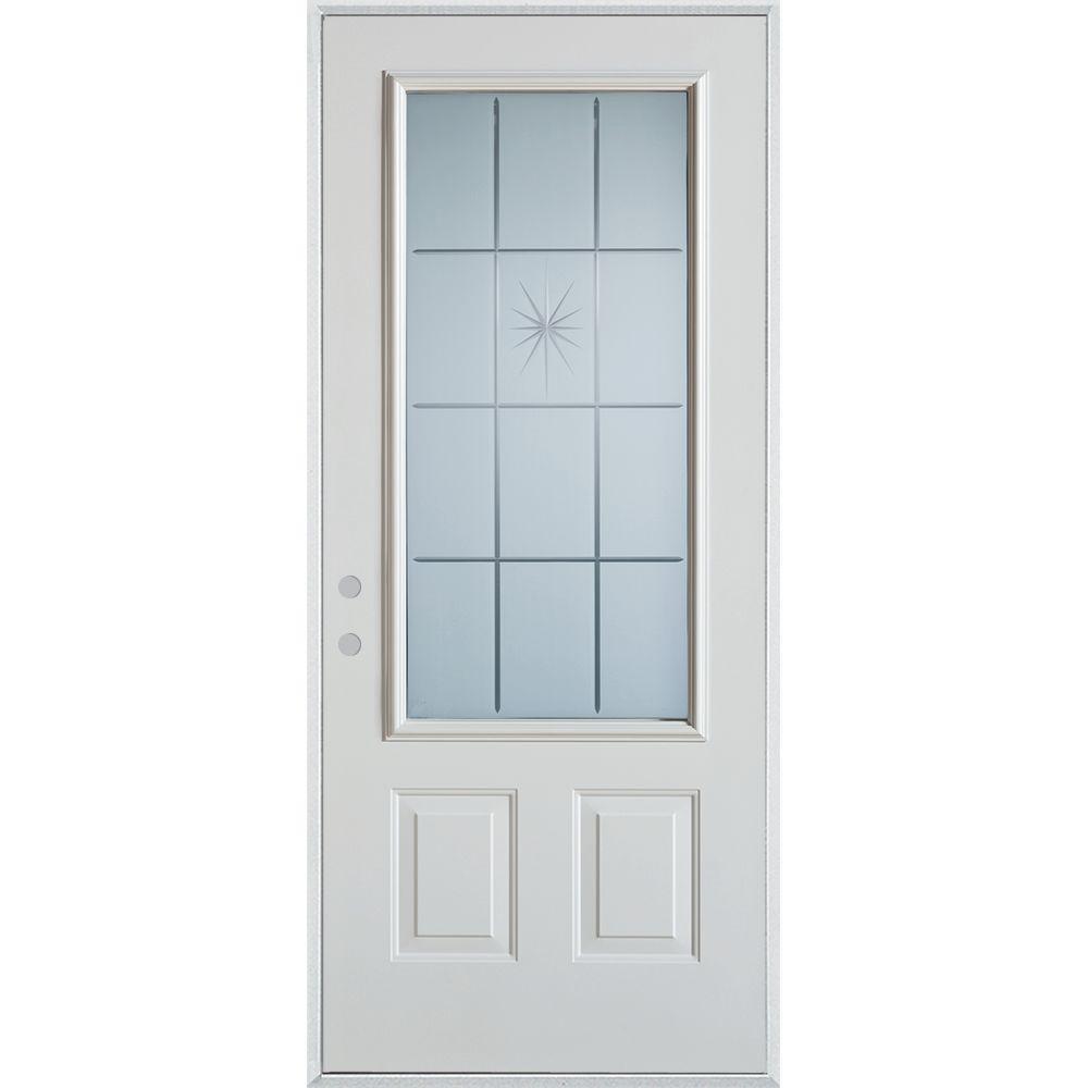 Stanley Doors 32 In X 80 In V Groove 34 Lite 2 Panel Painted