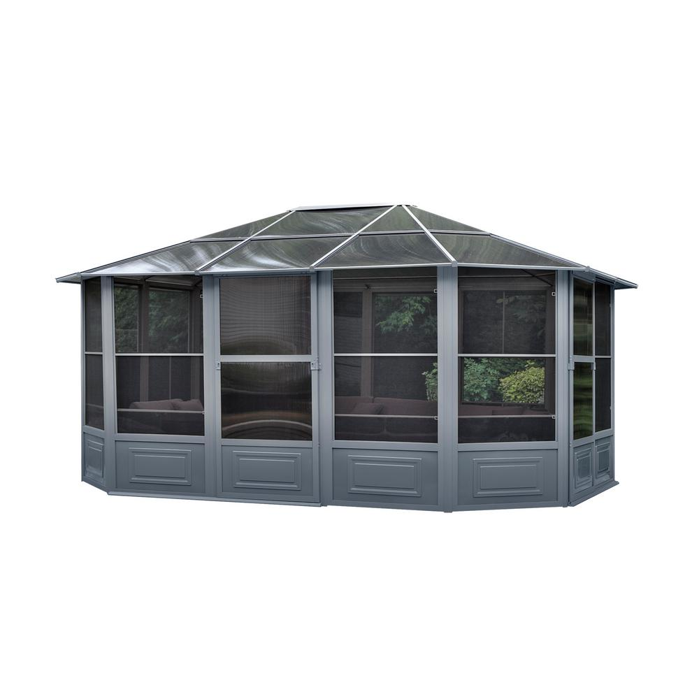 12 ft. x 15 ft. All Season Solarium in Grey