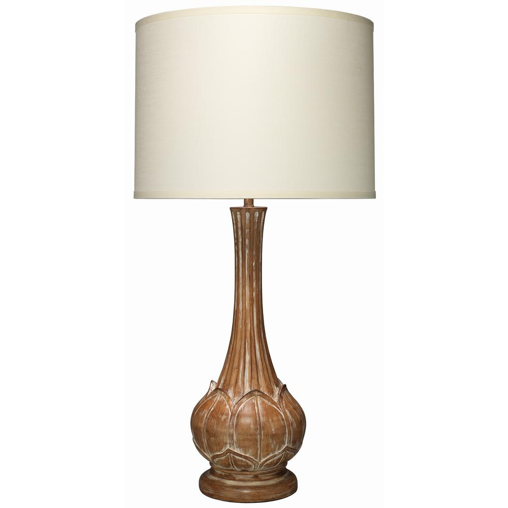 36 5 in brown belle table lamp with shade 9bellwdd71lg for Brown table lamp shades