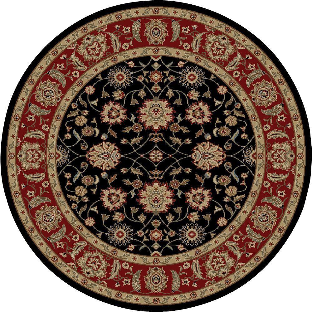 Ankara Zeigler Black 5 ft. 3 in. Round Area Rug