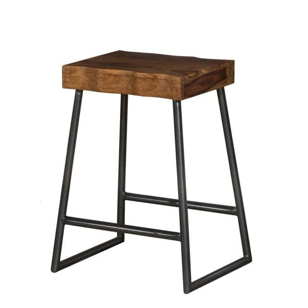 Brilliant Emerson 26 In Natural Sheesham Manufactured Live Edge Square Non Swivel Backless Counter Stool Download Free Architecture Designs Scobabritishbridgeorg