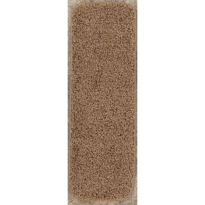 Comfort Collection Camel 9 in. x 26 in. Rubber Back Plush Stair Tread (Set of 7)