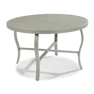 Captiva 48 in. Charcoal Gray Round Cast Aluminum Outdoor Dining Table