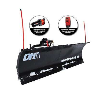 Rampage II 82 in. x 19 in. Snow Plow for Trucks and SUV (Requires Custom Mount)