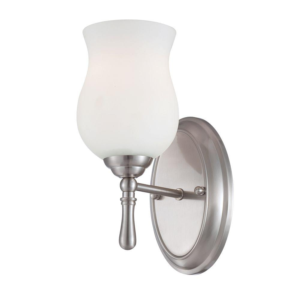 Eurofase Regency Collection 1-Light Satin Nickel Wall Sconce