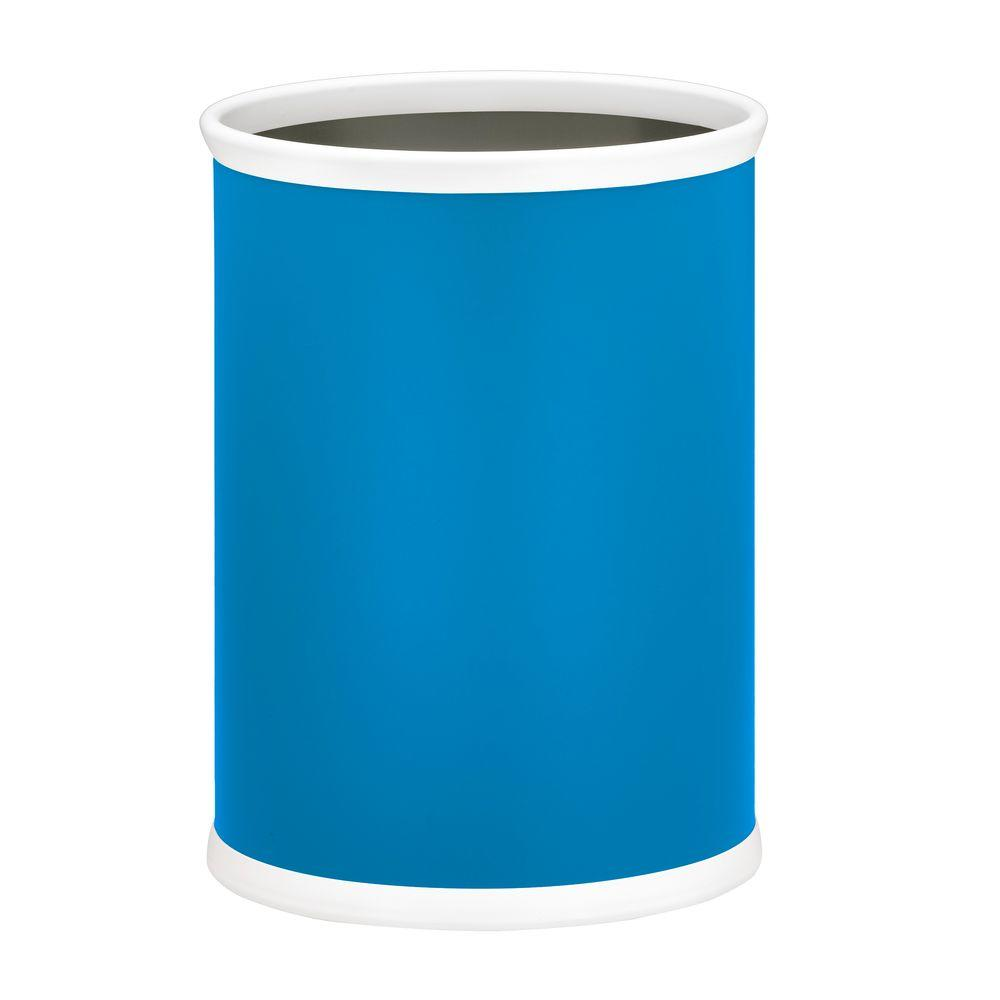 Fun Colors 13 Qt. Process Blue Oval Waste Basket