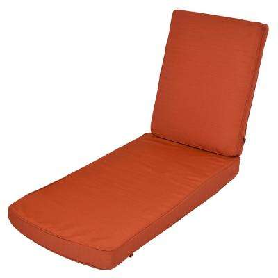 Quarry Red Replacement 2-Piece Outdoor Chaise Lounge Cushion