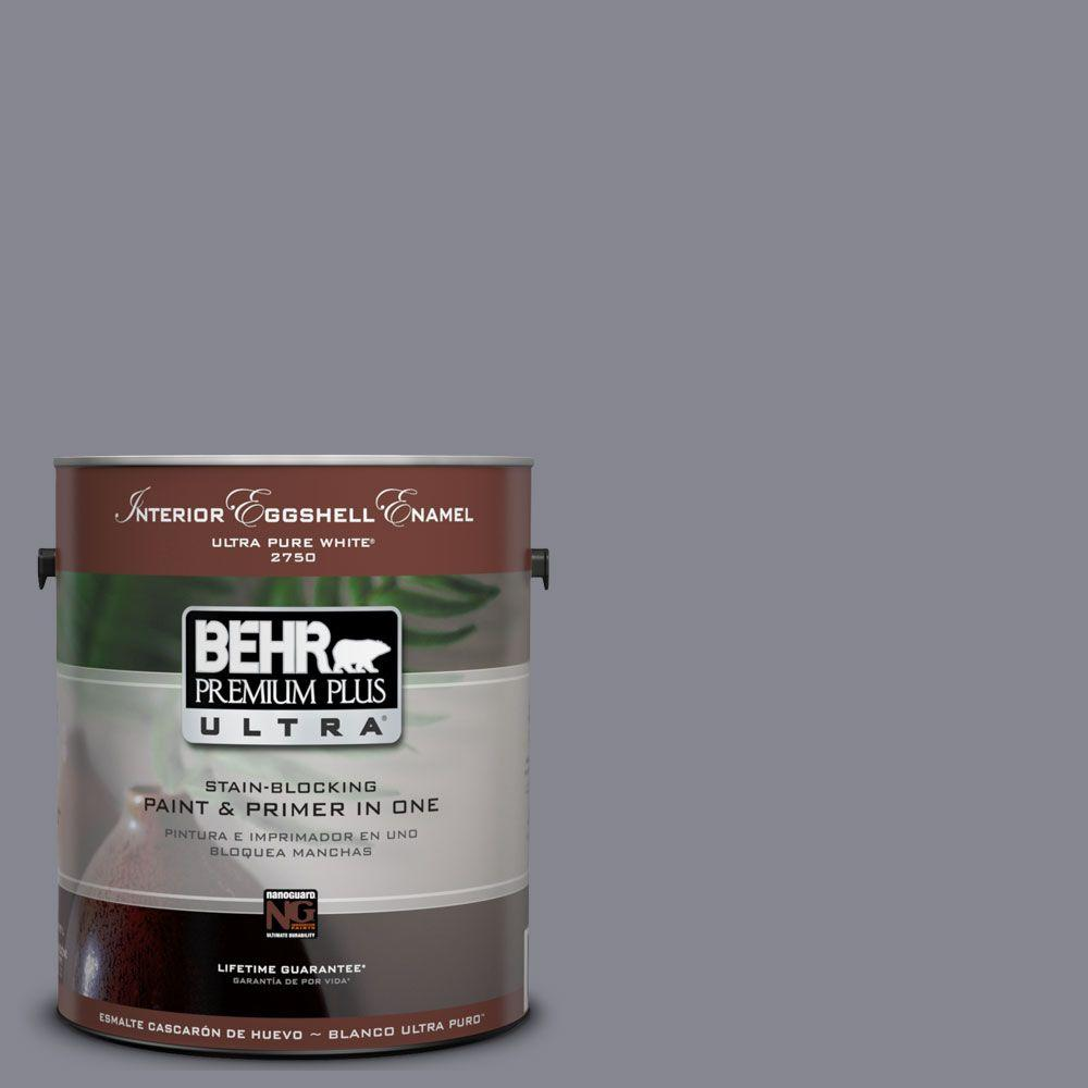 1 gal. #UL240-6 Gray Heather Eggshell Enamel Interior Paint and Primer