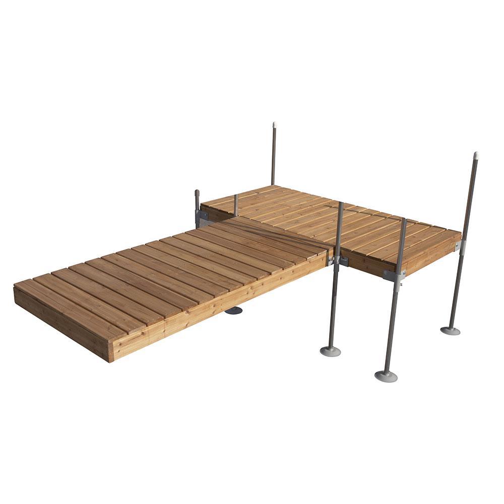 Tommy Docks 12 ft. T Style Cedar Complete Dock Package