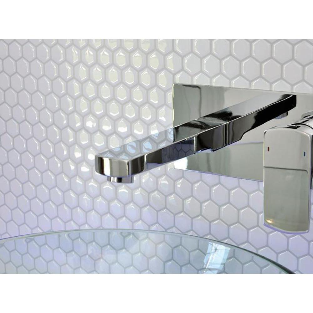 Smart tiles hexago in w x in h peel and stick - Carrelage mural auto adhesif salle de bain ...