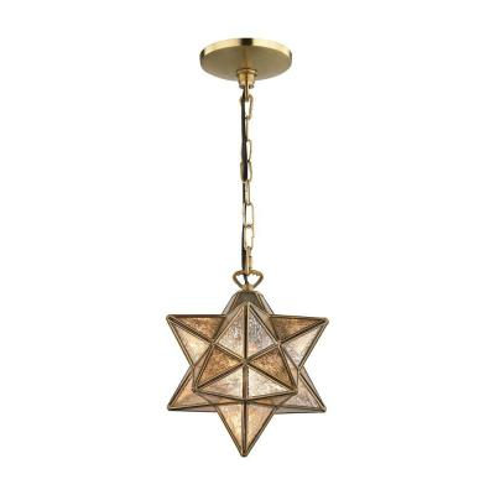 Moravian Star 1-Light Gold Pendant