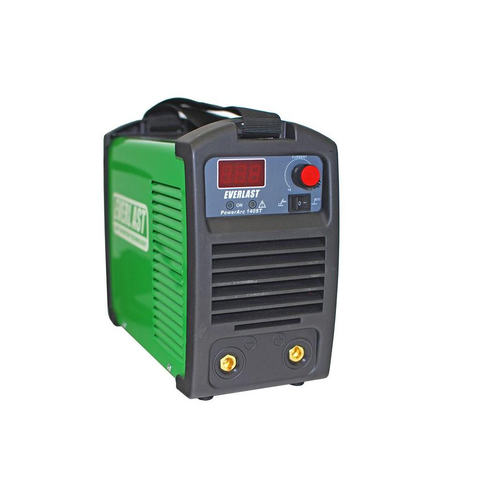 Everlast 140 Amp PowerARC 140ST IGBT Inverter DC Stick/TIG Welder with Lift  TIG Start, 120V/240V