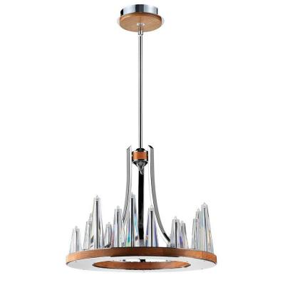 Skyline Collection 15-Light Chrome and Clear Chandelier with Clear Glass Shade