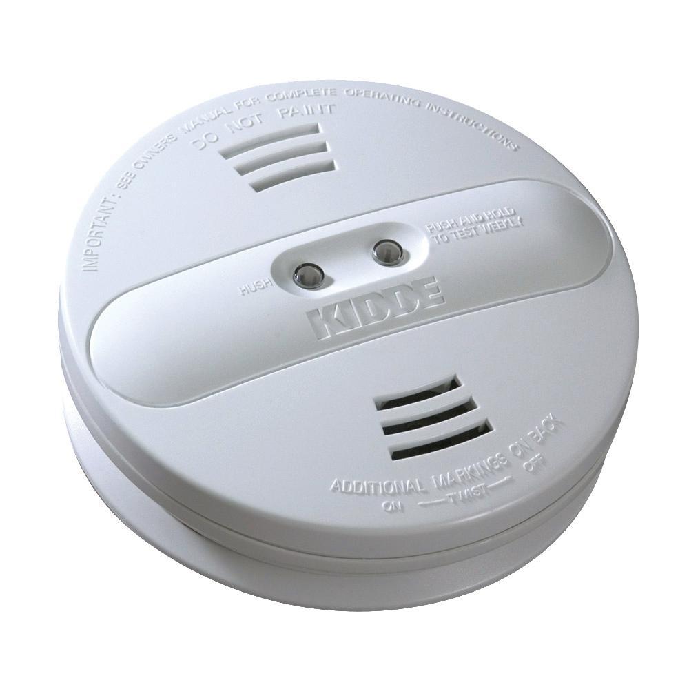 Kidde Dual Sensor Smoke Alarm 9 V Audible Visual White