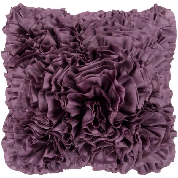 Uxbridge Purple Solid Polyester 18 in. x 18 in. Throw Pillow