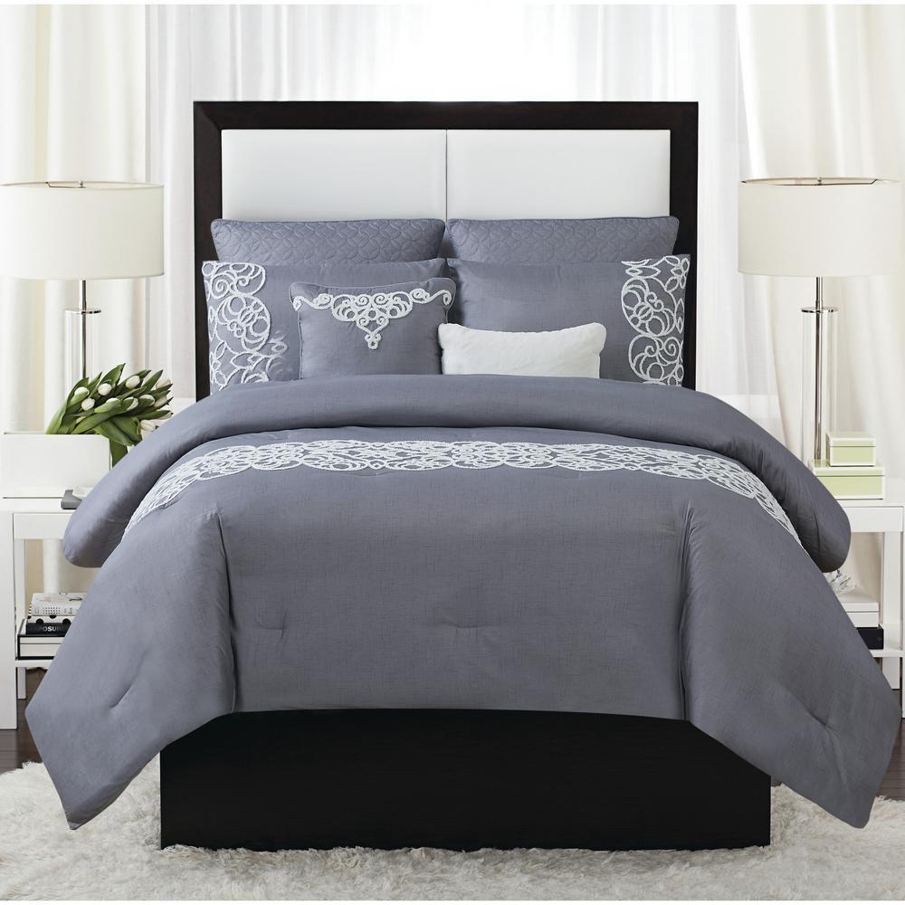 Julia 7 Piece King Comforter Set