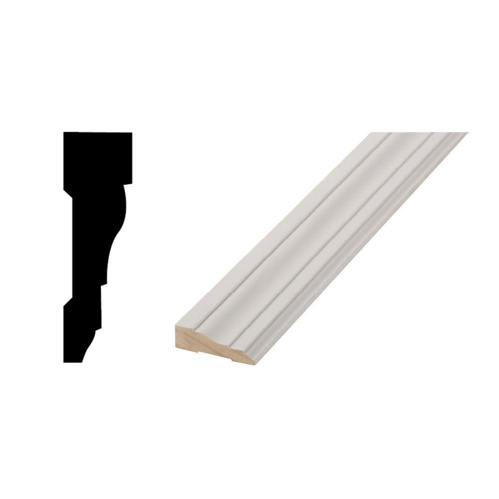 WM 366 - 11/16 in. x 2-1/4 in. x 84 in. Primed Finger-Jointed Door and Window Casing Moulding