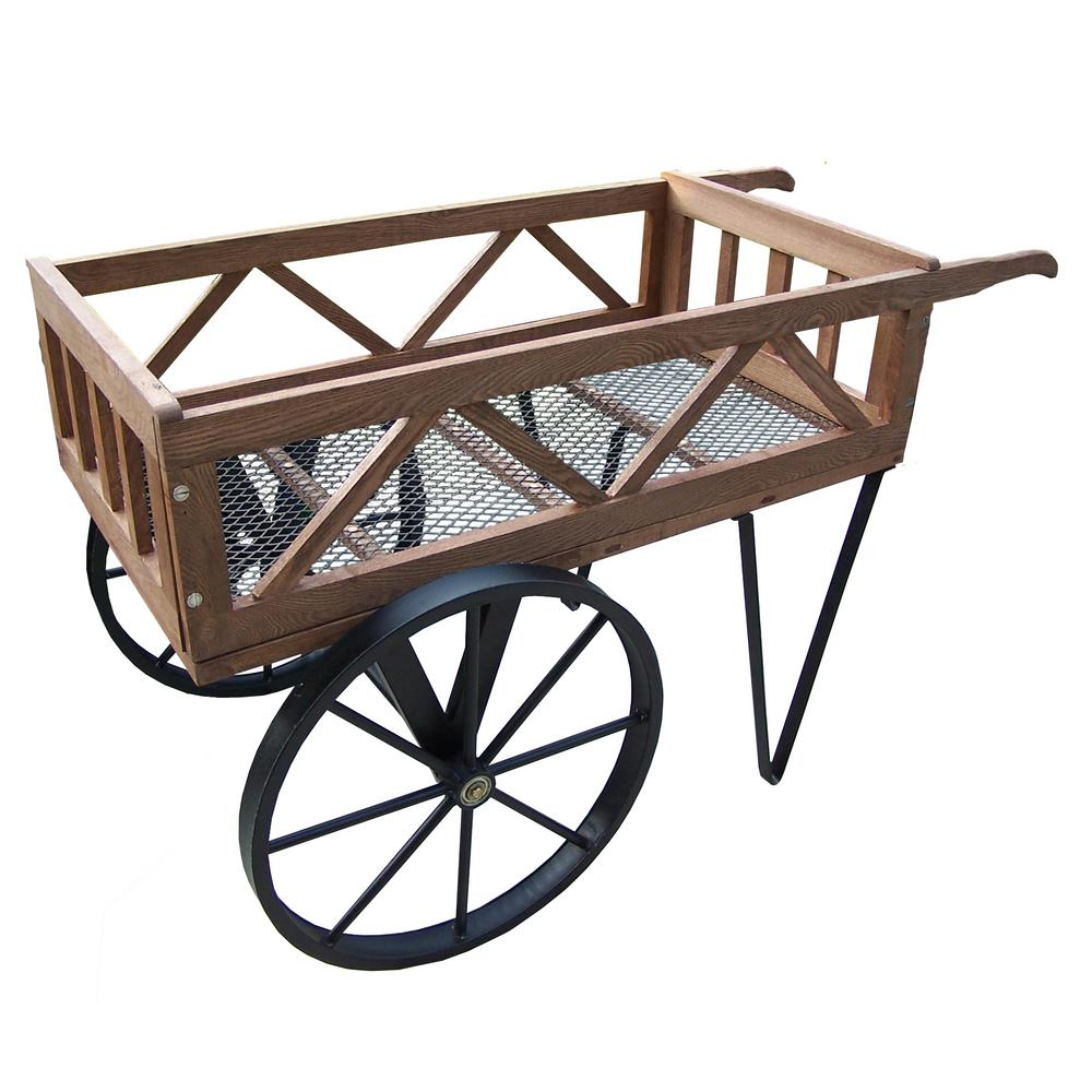 Flower Garden Wagon On Wheels-HD92008-BK