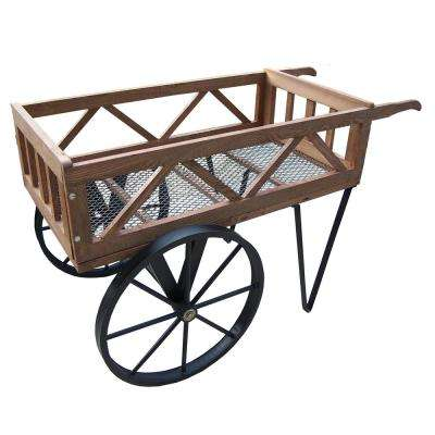 Flower Garden Wagon on Wheels