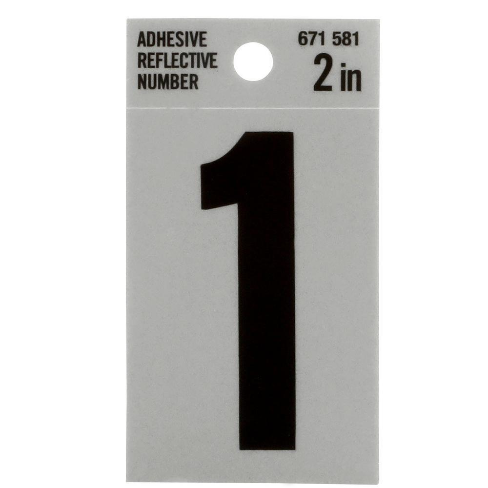 2 in. Vinyl Reflective Number 1