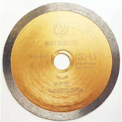 4 1/2 in. Continuous Rim Diamond Saw Blade for Wet Tile Cutting