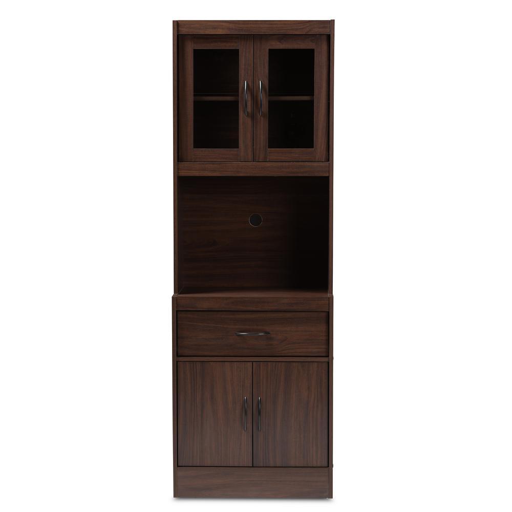 Brown Kitchen Cabinets: Baxton Studio Laurana Walnut Brown Kitchen Cabinet With