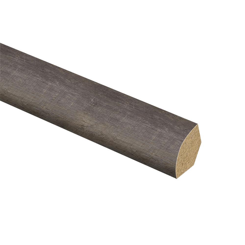 Zamma Seasoned Wood/Harrison Pine Dark/Augusta Wood 5/8 in. Thick x 3/4 in. Wide x 94 in. Length Vinyl Quarter Round Molding
