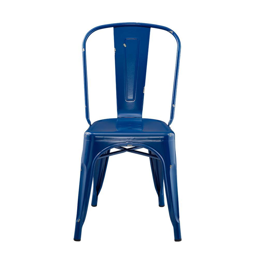 blue metal dining chairs. Internet  300846623 Walker Edison Furniture Company Navy Blue Metal Dining Chair