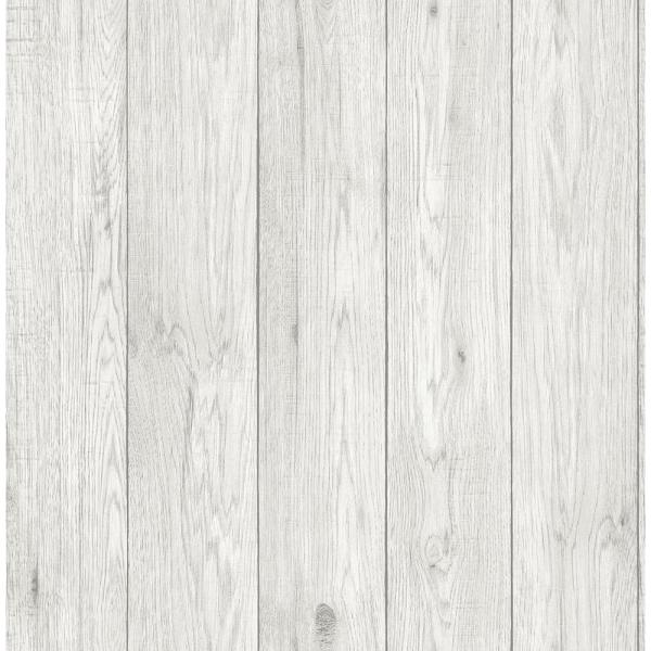 Brewster 56.4 sq. ft. Mammoth White Lumber Wood Wallpaper UW24769