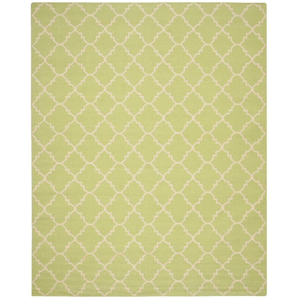 Safavieh Dhurries Light Green/Ivory 8 ft. x 10 ft. Area Rug