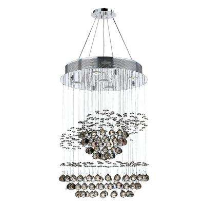 Saturn Collection 5-Light Polished Chrome Crystal Chandelier
