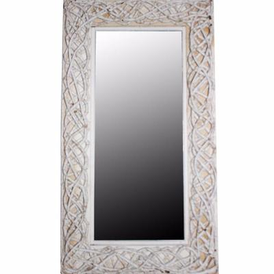 Large Rectangle White Mirror (40.5 in. H x 2.5 in. W)