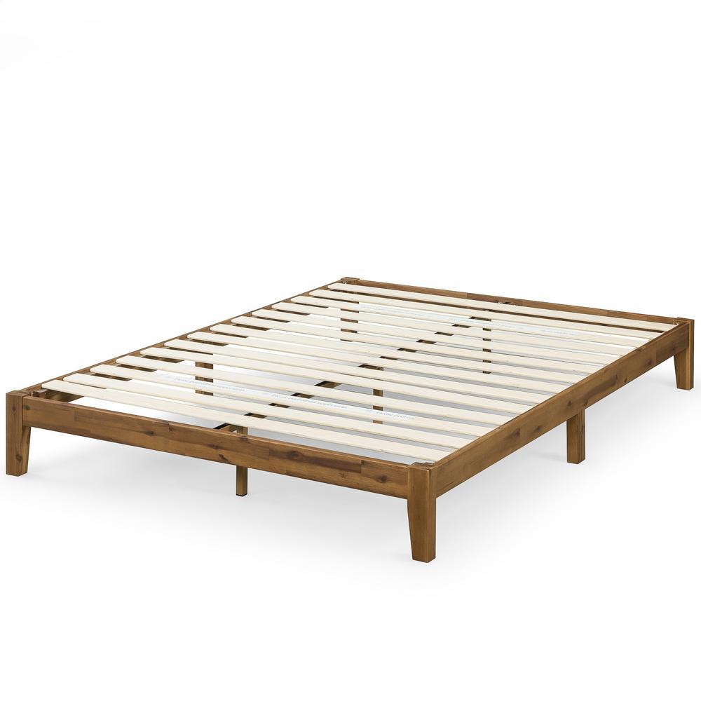 Lucinda King 10 in. Wood Platform Bed