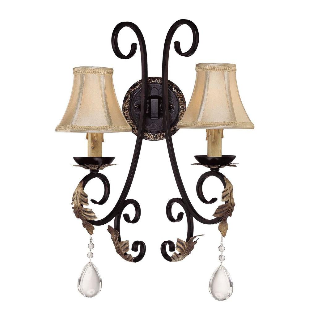 Minka Lavery Bellasera 2-Light Castlewood Walnut Sconce