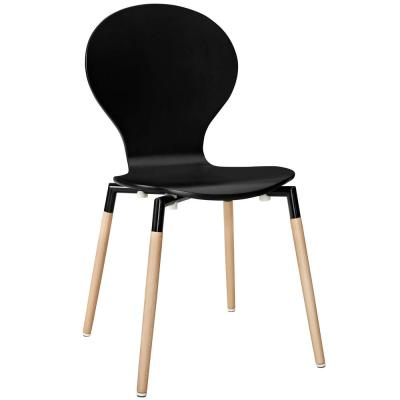 Black Path Dining Wood Side Chair