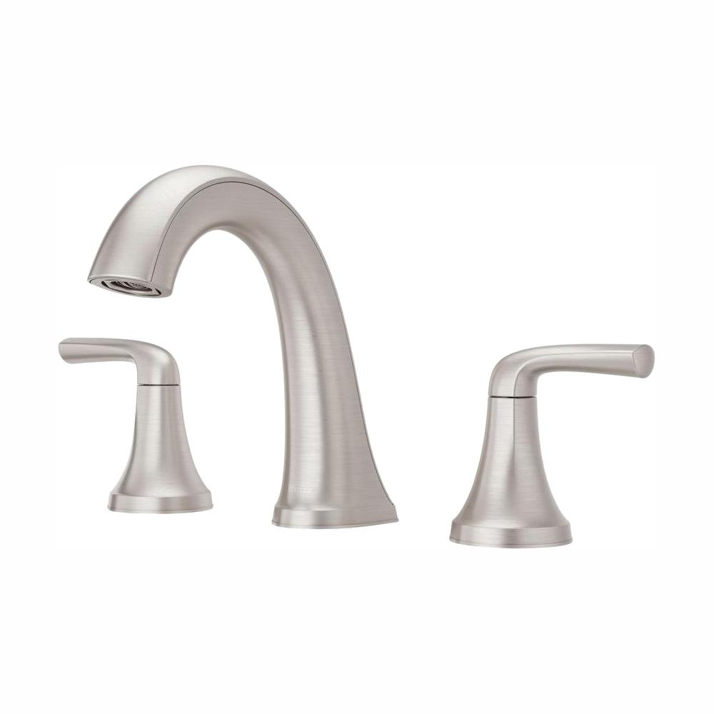 Bathroom Faucets.Pfister Ladera 8 In Widespread 2 Handle Bathroom Faucet In Spot