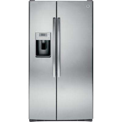 36 in. W 28.4 cu. ft. Side by Side Refrigerator in Stainless Steel