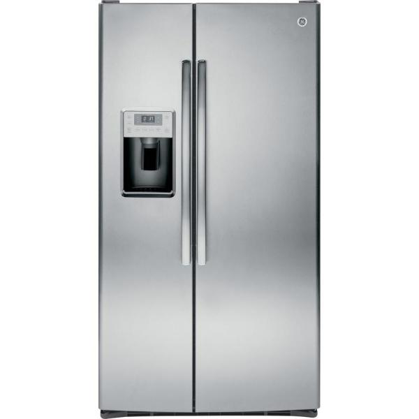 Profile 28.4 cu. ft. Side by Side Refrigerator in Stainless Steel