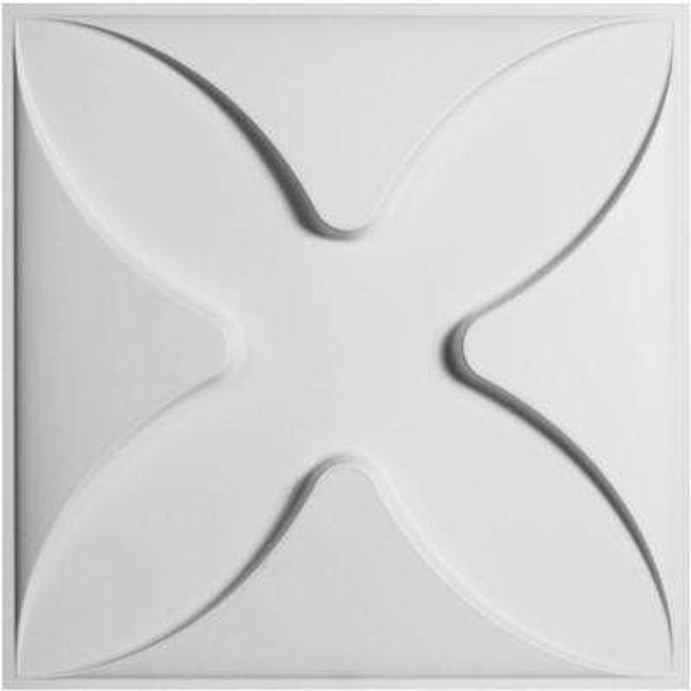 1 in. x 19-5/8 in. x 19-5/8 in. PVC White Austin EnduraWall Decorative 3D Wall Panel