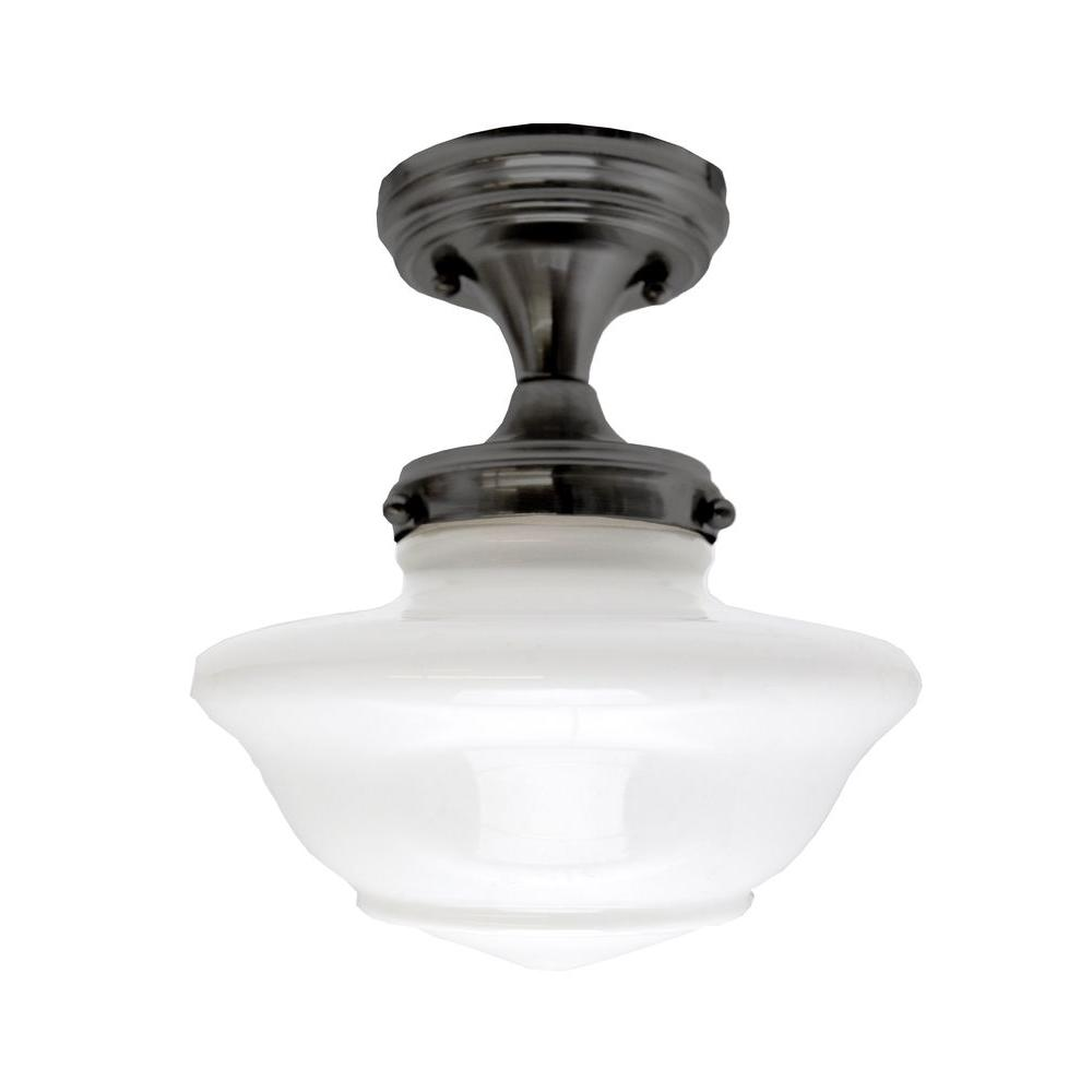 Design House Schoolhouse Oil Rubbed Bronze Ceiling Mount Light